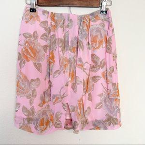 VTG Emporio Armani Floral Chiffon Mini Skirt Pink